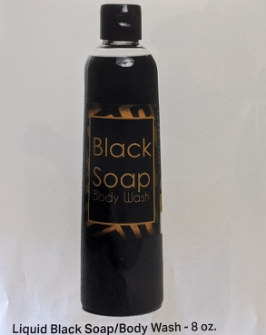 LIQUID BLACK SOAP - 8oz bottle